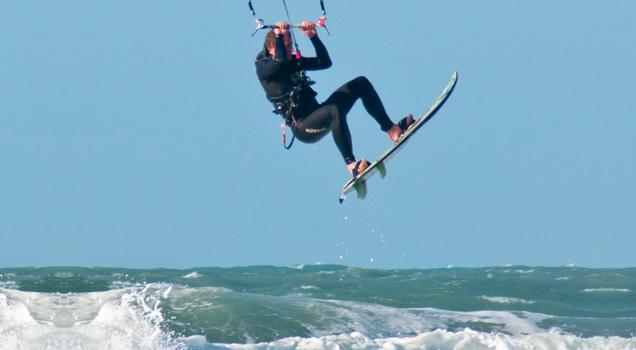 Kite Surfer Jumps An Island view on ebaumsworld.com tube online.
