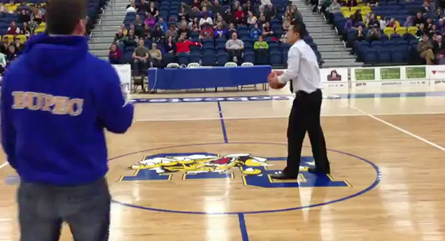 Coach Makes Half Court for Students Tuition! view on ebaumsworld.com tube online.
