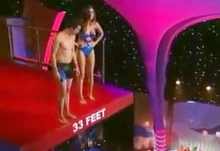 Miss Alabama Jumps Off The High Dive On The TV Show