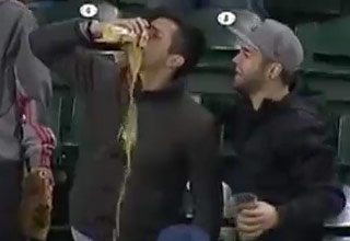 Mariners Fan Catches Foul Ball In Beer And Chugs It