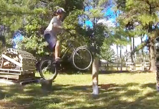 BMX Trick Ends With A Painful Fail