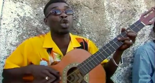 Jamaican Man Plays A Mean One String Guitar view on ebaumsworld.com tube online.