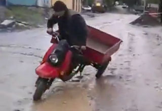 Russian Vespa Epic Fail