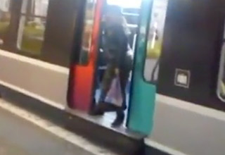 Girl Gets Kicked Off Subway Train