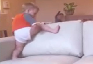 Two Year Old Kid vs. The Couch