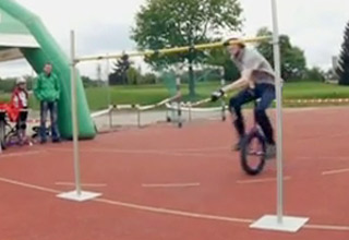 World Record Breaking Unicycle High Jump
