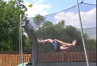 Incredible Trampoline Trick Shot