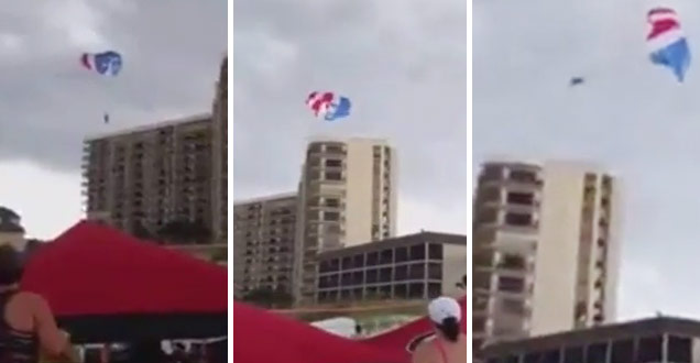 Teenage Girls Slam Into Building While Parasailing view on ebaumsworld.com tube online.