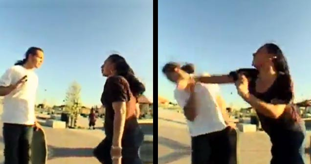 Skateboarder Punched By Kid's Mom view on ebaumsworld.com tube online.