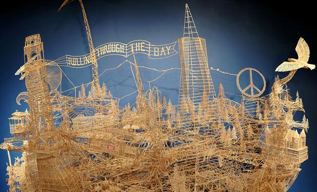 100,000 Toothpicks to Make San Francisco view on ebaumsworld.com tube online.