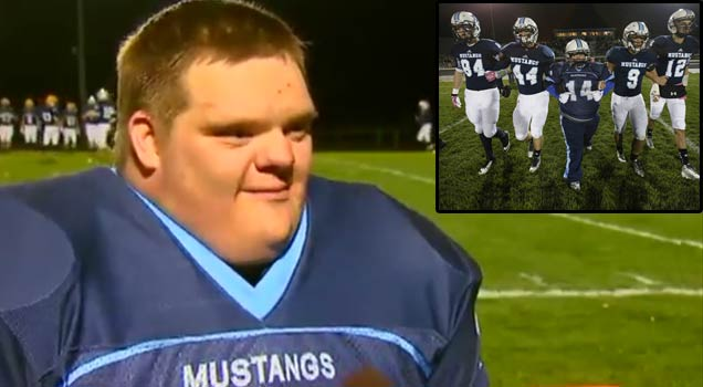 Senior Waterboy With Down Syndrome Scores Touchdown view on ebaumsworld.com tube online.