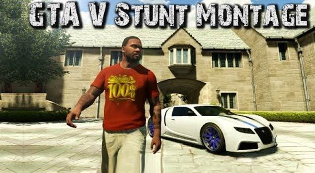 GTA V Stunt Montage view on ebaumsworld.com tube online.