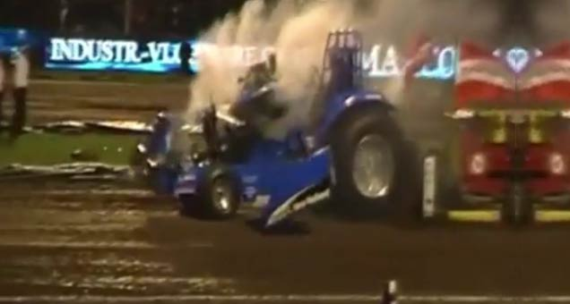 Tractor Engine Explosion