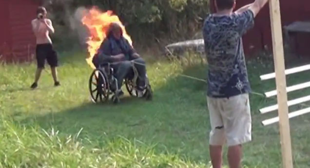 Wheelchair Fire Stunt Goes Horribly Wrong Wtf Video