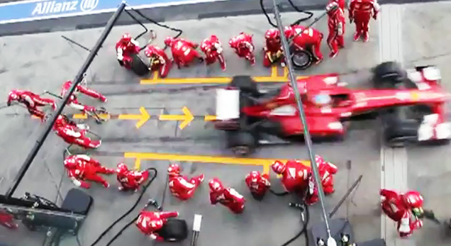 How To Flip Cars >> Ferrari F1 Pit Stop Perfection - Video | eBaum's World