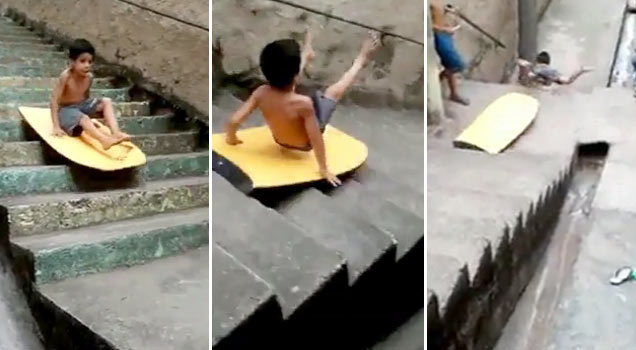 Little Kid Bike Jump Fail