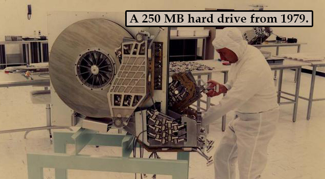 250 MB hard drive 1979