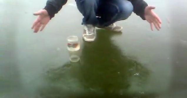 jar spinning on ice