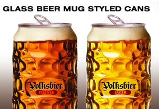 glass beer mug styled cans