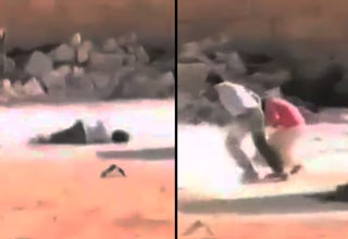 syrian boy saves little girl