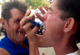 guy pulls teeth with pliers