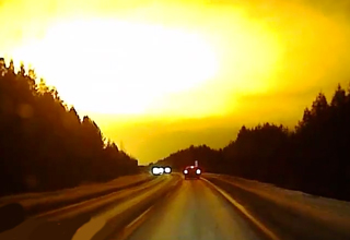 fireball in russian sky