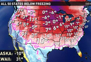 united states below freezing