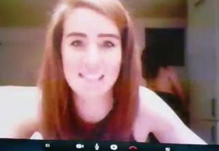 pretty girl on skype