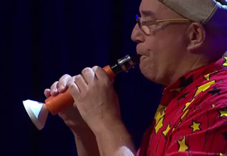 clarinet made from carrot