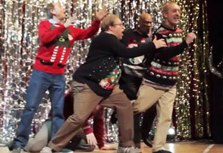 dads christmas dubstep dance