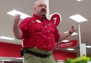target employee giving speech