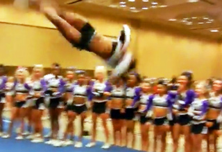 cheerleader tumbling