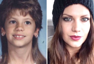 awkward girl as a kid and hot as an adult