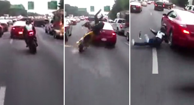 bike wrecks lane splitting