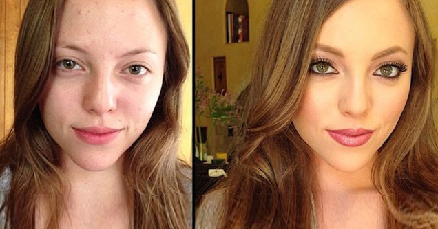 porn star before and after makeup