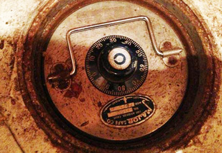 old rusty safe