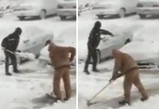 Shoveling Snow Onto Cars