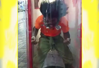 super saiyan at mall