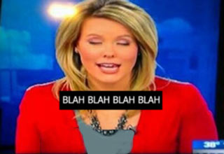 blah blah blah funny news caption