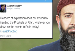 imam anjem choudary tweets: Freedom of expression does not extend to insulting the Prophets of Allah, whatever your views on the events in Paris today!