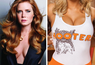 amy adams and a hooters girl