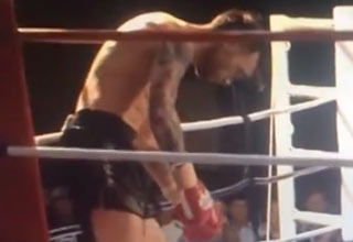 muay thai spinning kick knockout