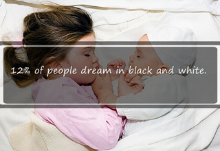 12% of people dream in black and white