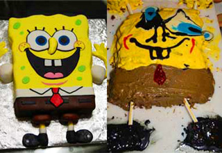 spongebob squarepants cake fail