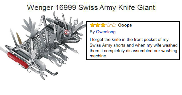 22 Hilarious Reviews For The Wenger 16999 Swiss Army Knife