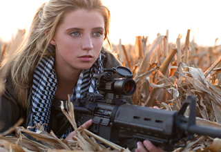 girl with a sniper gun