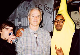 bill murray with a guy in a banana