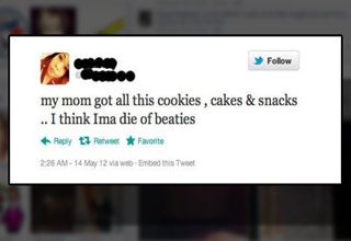girl tweets die of beaties instead of d