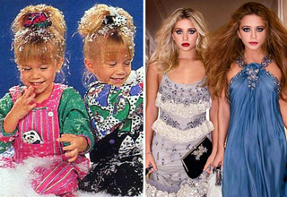 mary-kate and ashley olsen in the 90s and now