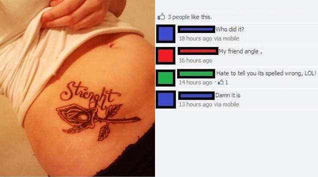 strenght tattoo facebook post